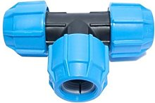 Polypipe Compression Equal Tee (Dia)25 mm