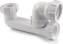Polypipe WT67 Low Level Bath Trap with 38 mm