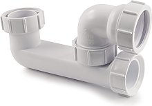 Polypipe WT68 Low Level Bath Trap with 75 mm