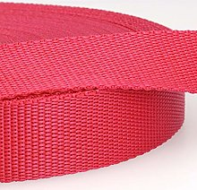 Polypropylene Webbing Pink - per metre