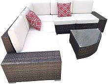 Polyrattan Lounge brown seating group seating