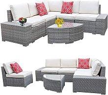 Polyrattan Lounge Grey seating group seating