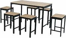 Polywood and Extrusion Aluminium 6 Seater Bar