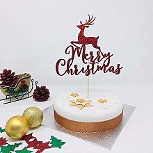 Pomchick PCTMMC Merry Reindeer, Cake Red Glitter