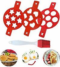 POMNUG Pancake Mold, 3 Pack Nonstick Reusable