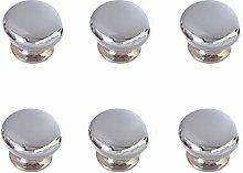 Pomoline A125-1 Bright Chrome Knob, Pack of 6