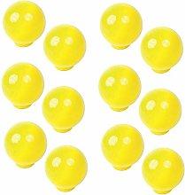 Pomoline A746-2 Ball Knob Resin ABS Yellow Gloss,