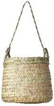 Pompon Bazar - Large Wicker Basket - Wood