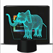 PONLCY Novelty 3D Illusion Lamps LED Elephant