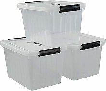 Ponpong 13 Litre Clear Plastic Storagre Bin