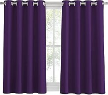 PONY DANCE Bedroom Blackout Curtains - Short