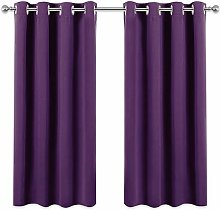 PONY DANCE Bedroom Blackout Curtains - Short