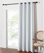 PONY DANCE Bedroom Curtain White - Silver Rings Up