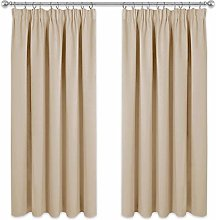 PONY DANCE Beige Curtain for Bedroom - Thermal