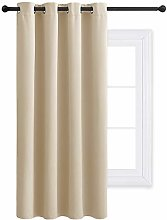 PONY DANCE Beige Eyelet Curtain - Thermal
