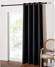 PONY DANCE Black Curtain for Shades - Eyelet