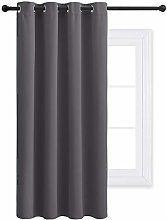 PONY DANCE Blackout Curtain for Bedroom - 52 x 63
