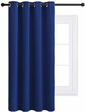 PONY DANCE Blackout Curtain for Bedroom - 52x 54