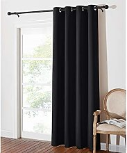 PONY DANCE Blackout Curtain for Door - 52 x 84