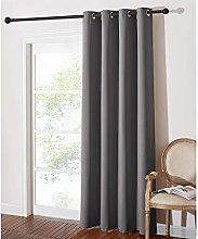 PONY DANCE Blackout Curtain Grey - Long Window