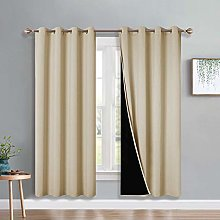 PONY DANCE Blackout Curtains Beige - Heavywight