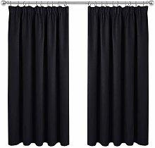 PONY DANCE Blackout Curtains Black - Short Pencil