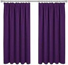 PONY DANCE Blackout Curtains Drapes - Short Pencil