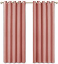 PONY DANCE Coral Curtains for Girls - Modern