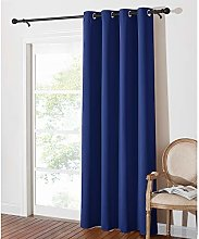 PONY DANCE Eyelet Blackout Curtain - Soft Solid