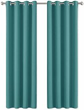 PONY DANCE Eyelet Blackout Curtains - Wide Curtain