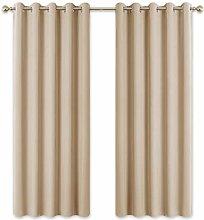 PONY DANCE Eyelet Curtain Drapes - 72 inch Length