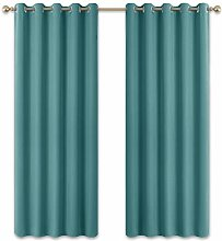 PONY DANCE Eyelet Curtains Blackout - Privacy