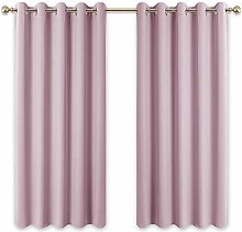 PONY DANCE Eyelet Window Curtain - Pink Curtains