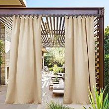PONY DANCE Gazebo Curtain for Outdoor Waterproof -