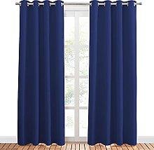 PONY DANCE Navy Curtain for Boys - Eyelet Window
