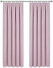 PONY DANCE Nursery Window Curtains - 2 X Pink