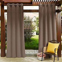 PONY DANCE Outdoor Curtain for Gazebo - Stainless