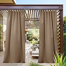 PONY DANCE Outdoor Curtain for Patio - Blackout