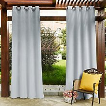 PONY DANCE Outdoor Curtain for Patio - Water
