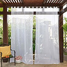 PONY DANCE Outdoor Curtain Panel - Slot Top Window