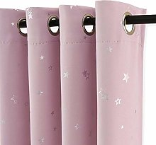 PONY DANCE Pink Curtains for Bedroom - 52 x 54
