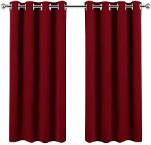 PONY DANCE Red Blackout Curtains - Thermal Eyelet