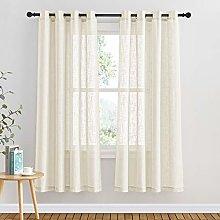PONY DANCE Semi Voile Curtains - Linen Look