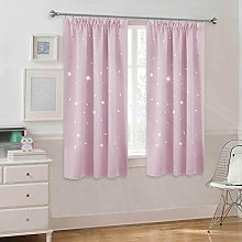 PONY DANCE Star Curtains Pink - Kids Thermal