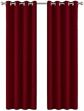 PONY DANCE Thermal Blackout Curtains - Bedroom Bay