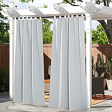 PONY DANCE Waterproof Outdoor Curtain - Privacy
