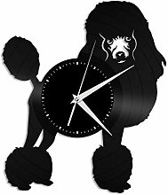 Poodle vinyl wall clock, vinyl record home