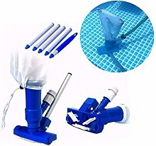 Pool Spa Pond Mini Jet Vac Vacuum Cleaner w/Brush