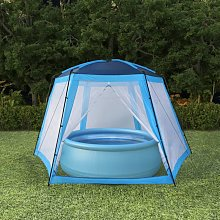 Pool Tent Fabric 500x433x250 cm Blue - Blue