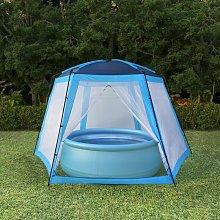 Pool Tent Fabric 500x433x250 cm Blue VD32643 -